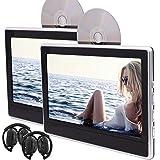 EinCar jumeaux Lecteur DVD portable Backseat en syst¨¨me de divertissement pour...