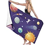 Hotyle Raum und Planeten Set Poster Mikrofaser Strandtuch