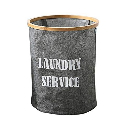 BOENTA Cesta Ropa Sucia Cesta Ropa Sucia Bebe Cestas de lavandería para dormitorios Cestas de Lavado Plegables Cesta de almacenaje pequeña Gray,One Size