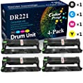 (4-Pack Set, K+C+M+Y) Compatible DR-221 DR-221CL Drum Unit DR221CL Imaging Unit Used for Brother DCP-9020CDW HL-3140CDW 3170CDW MFC-9330CDW 9340CDW Printer, by ColorPrint