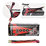 GOLDBAT 5000mAh 7.4V 80C 2S Lipo Battery with Dean-Style T Connector for RC