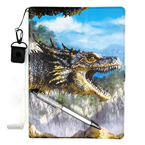 Lovewlb Tablettes Coque pour Auchan Qilive Q8t7in4g Coque Etui Housse Support Intégré Multi-Angle,Cuir Tablet Case Cover L