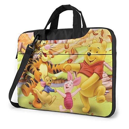 IUBBKI Winnie Pooh Funda para portátil Funda para portátil Maletín para Tableta Bolso Protector ultraportátil Tela Oxford-para MacBook Pro/MacBook Air/Ordenador portátil de 15,6 Pulgadas
