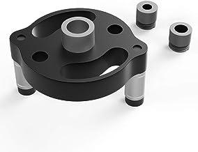 Housolution Guía de Taladro Manual, Sierra de Perforación de Madera de Aleación de Aluminio con 3 Piezas de Bujes de Perforación para Localizador de Agujeros Verticales - Negro