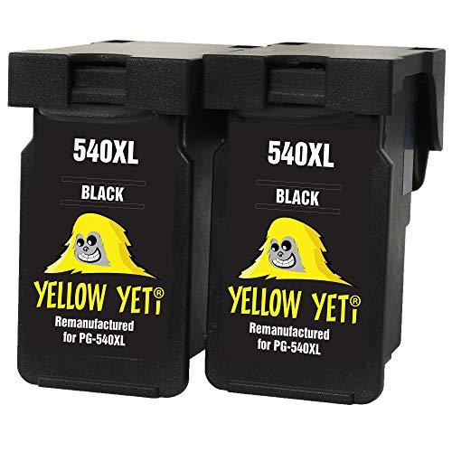 Yellow Yeti Ersatz für Canon PG-540XL PG-540 XL Druckerpatronen Schwarz kompatibel für Canon Pixma MG3250 MG3550 MG4250 MG3150 MX395 MX535 MG3650 MG2250 MG2150 MX525 MX475 MX435 MX375 MX455 MG4150