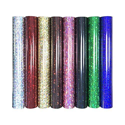 25 cm * 25 cm PET warmteoverdracht Gebroken glas metaal vinyl film T-shirt Opstrijkbaar HTV Drukpatronen sportkleding Woondecoratie, DTB3-6