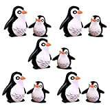 BHLB Pupdoge 10pcs Penguin Figurines, Penguin Animal Model Toys, Cute Ocean Animal Penguin Figure Model Collection Playset, Penguin Cake Topper Fairy Garden Decor