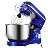 Aucma Stand Mixer,6.5-QT 660W 6-Speed Tilt-Head Food Mixer, Kitchen Electric Mixer with Dough Hook, Wire Whip...