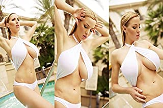 makeuseof Living room home wall decoration sill fabric large poster big boobs Jordan Carver bikini swimming pool