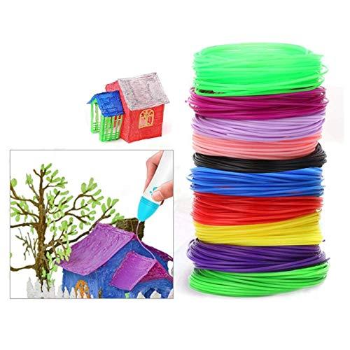 filamenti penna 3d,Filamento PCL,Filamento 3D Ecologico,Filamento per Stampante 3D PLA,3D Pen refills,Filament for 3D (10 colori, 5 metri per colore)