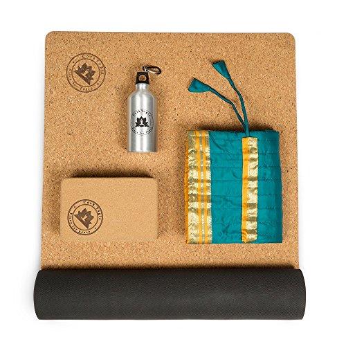 CorkYogis El paquete de regalo de yoga incluye alfombrilla de corcho antideslizante de 3...