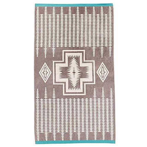 Pendleton Oversize Jacquard Towel, 40 in x 70 in, Harding-Grey