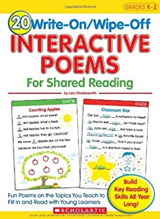 20 Write-On/Wipe-Off Interactive Poems for Shared Reading: Fun Poems on the Topics You Teach to Fill in and Read with Youn...
