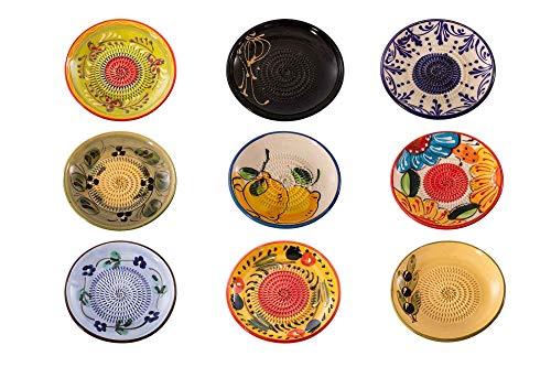 Muxel Keramikreibe 9er Set Andalusien Reibe für Ingwer, Knoblauch, Nüsse, Schokolade und Vieles mehr