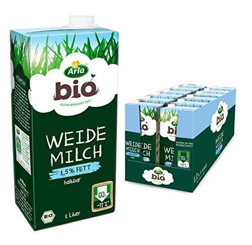 Arla BIO Weidemilch haltbar 1.5% Fett, 12er Pack (12 x 1 l)