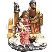 カトリックキリスト教のヨーロッパとアメリカの絶妙なクリスマスの小さな飼い葉桶の装飾家の樹脂工芸品の贈り物