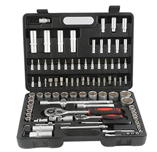 94 Teile/Satz Praktische Haushaltsbuchse Handwerkzeug Set Schraubenschlüssel Multifunktionale Ratschen Toolbox Kit Mit Carry Box Fall