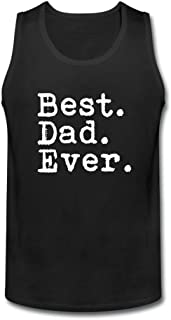 Dotion Men's Best Dad Ever Waistcoat T Shirt