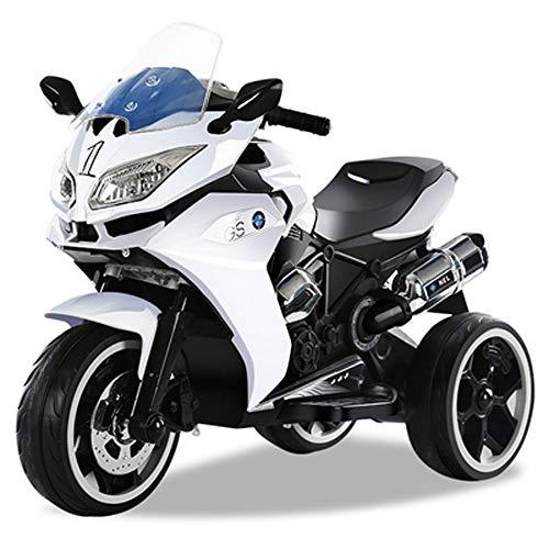 Lihgfw Children's elektrische motorfiets, elektrische driewieler Baby Grote speelgoed auto wandelwagen Opladen kan zitten Mensen Geschikt for 3-9 Years Old Boys and Girls