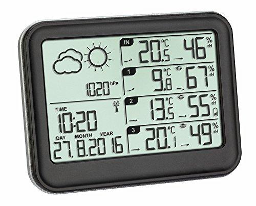 TFA Dostmann 35.1142.01 Estación meteorológica inalámbrica View (Negro con baterías)