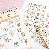 BLOUR 6 unids/Set Kawaii Cartoon Cute Little Pink Pig Stickers para niños Pegatinas Juguetes Diario Scrapbook Book Stickers Pig año Regalo
