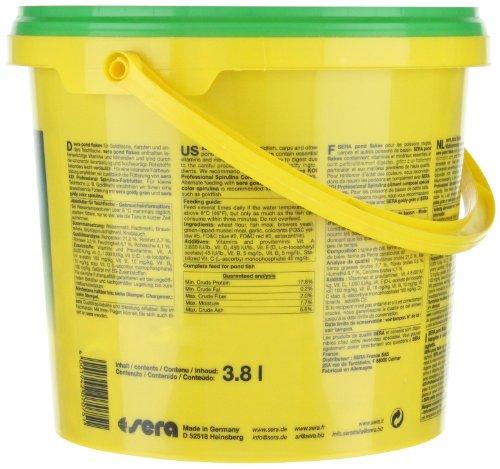 sera 07075 pond flakes 3800 ml – das lange schwimmende Flockenfutter für kleinere Teichfische - 9