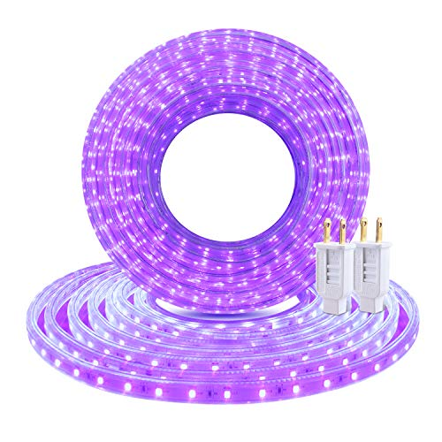GuoTonG UV Black Light Waterproof 50ft LED Lights ...