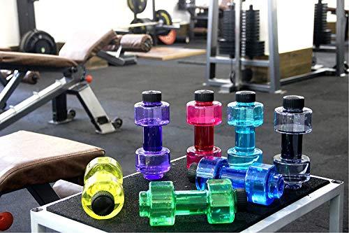 Findandbuy Stylish Plastic Dumbbell Sports Bottle, Fitness Gym Water Bottle |H2O Bottle / 750 ml, Purple
