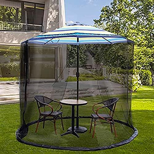 Mosquitera De Malla para Sombrilla De Jardín Al Aire Libre, Patio Insecto Red para Cenador, para Jardín Camping Al Aire Libre