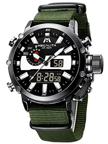 MEGALITH ® Orologio Uomo Orologio Militare Digitale Grande Quadrante LED...