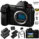 Panasonic Lumix DC-S1 Mirrorless Digital Camera (Body Only) - Panasonic Accessory Bundle - Extra Panasonic DMW-BLJ31 Battery and Charger + Panasonic DMW-RS2 Remote Shutter + More