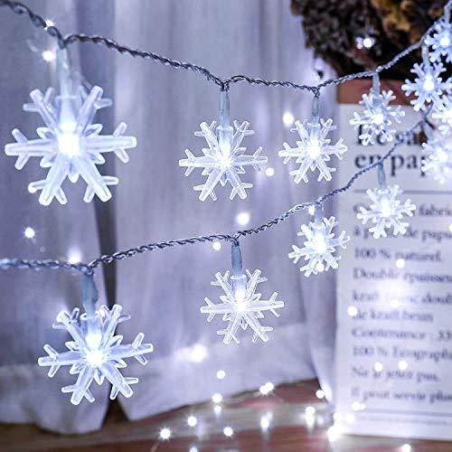 Schneeflocke Lichterketten 5M 50Led,...