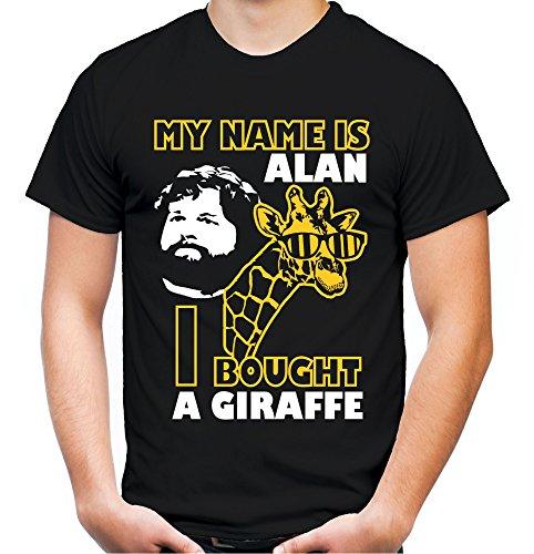 Hangover Giraffe Männer und Herren T-Shirt   Spruch Carlos Kostüm Alan Geschenk (L, Schwarz)