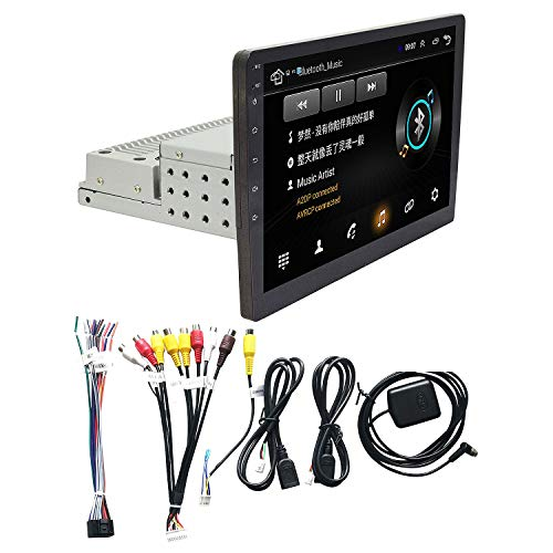 Gaetooely 1 Satz 1Din Einstellbare 9 Zoll Auto Radio WiFi Android 8.1 Touchscreen Quad Kern Auto GPS Navigation Radio Spieler