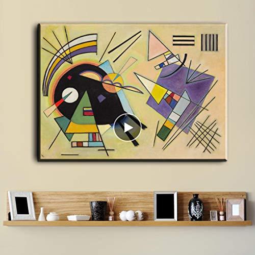 Danjiao Wassily Kandinsky Gemälde Diy Rahmen Kunst Poster Drucken Leinwand Stoff 12 X 18 20 X 30 24 X 36 Zoll Wand Dekor Wohnzimmer 40x60cm
