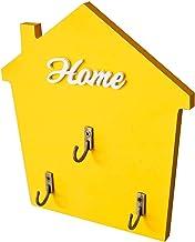 Jingli Huis Vorm Sleutelhaak Houten Innovatieve Huis Entrance Muur Prachtige Decoratie