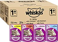 Whiskas Adult Cat Pouches in jelly, a delicious all around meal designed for adult cats in their prime years, succulent, moist ingredients in every pouch Carefully designed meals for cats, juicy chunks of food and tasty jelly combine with mouth water...