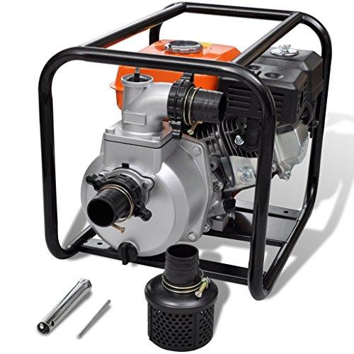 Festnight Bomba de Agua con Motor de Gasolina - 3600rpm 3,6L 5,5HP - Material de Metal, 48x37x38 cm