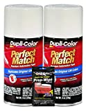 Dupli-Color Dover/Arctic White Exact-Match Automotive Paint for GM Vehicles - 8 oz, Bundles with Prep Wipe