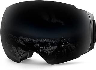 ZIONOR X4 Ski Snowboard Snow Goggles Magnet Dual Layers Lens Spherical Design Anti-Fog UV..