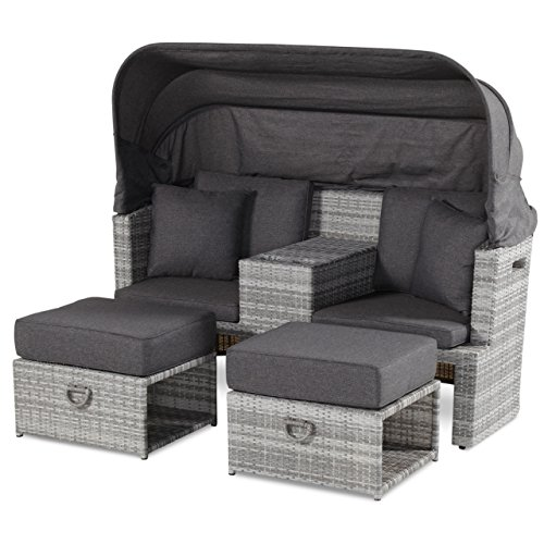 Hartman Turtle Loungesofa Strandkorb Sessel 2Sitzer royal grey flat 72296799