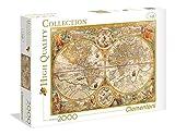 Clementoni-Los Pingüinos De Madagascar Puzzle 2000 Piezas Mapa Antiguo (32557), Multicolor