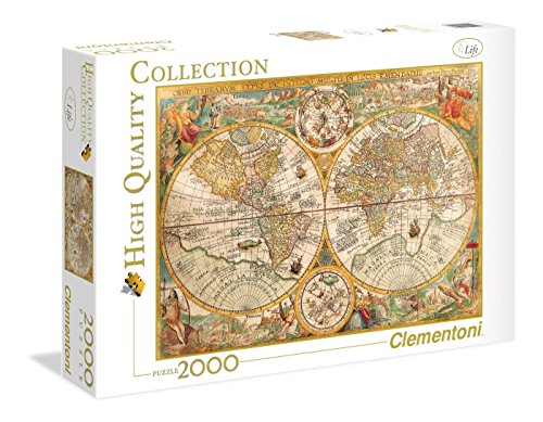 Clementoni- Ancient Map High Quality Collection Puzzle, Multicolore, 2000 pezzi, 32557
