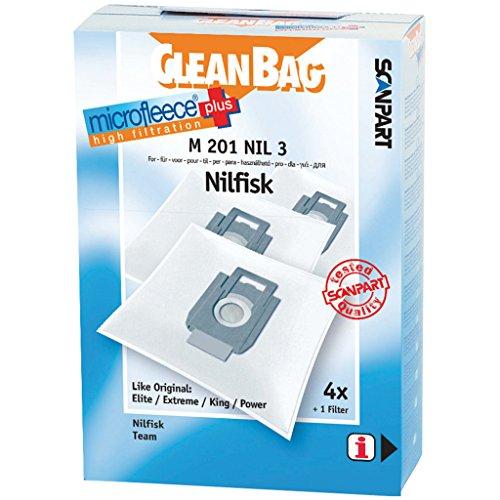 CleanBag bolsas de aspiradora m201nil3para Nilfisk 22359500, 81846000