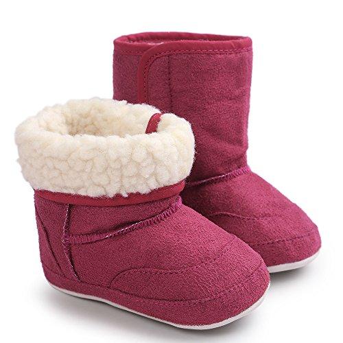 DWQuee ❤️ Baby Weiche Sohle Baumwollstiefel, Winter Mädchen Junge Schneeschuhe Weiche Krippe Warme Schuhe Stiefel (0-18 Monate)