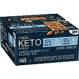 Ratio KETO friendly Vanilla Almond Crunchy Bars, Gluten Free, 12 ct