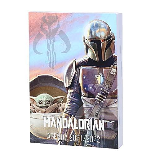 1 Agenda Scolaire Journalier Star Wars : The Mandalorian Couleurs - 12 x 17 cm - Août 2021 à Septembre 2022