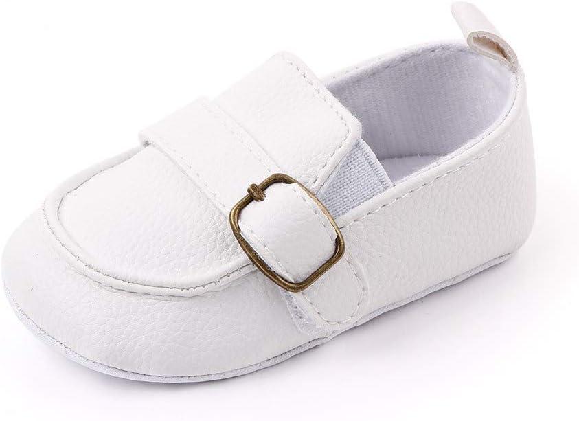 Blanco Zapatos Bebe Niño Primeros Pasos 12-18 Meses Mocasines Bebé Recién Nacido Moda Plano Comodas