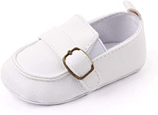 Baby Boys Moccasin Shoes Infant First Walking Soft Sole Anti-Slip Casual Flats Crib Shoes