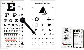 EMI 5 Piece Optometry Set - Snellen Wall Eye Chart, Kindergarten Wall Eye Chart, Snellen Pocket Eye Chart, Rosenbaum Pocke...